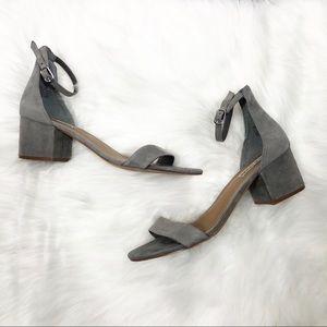 Steve Madden Gray Suede Block Heels Size 8